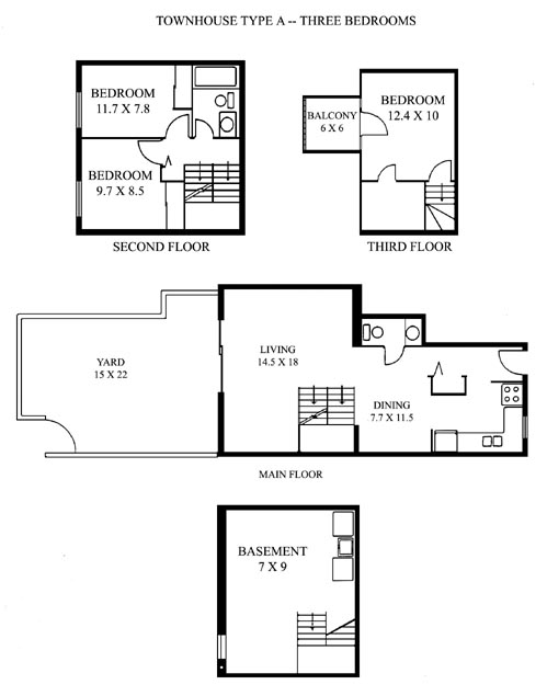 Floorplan Of Townhouse A